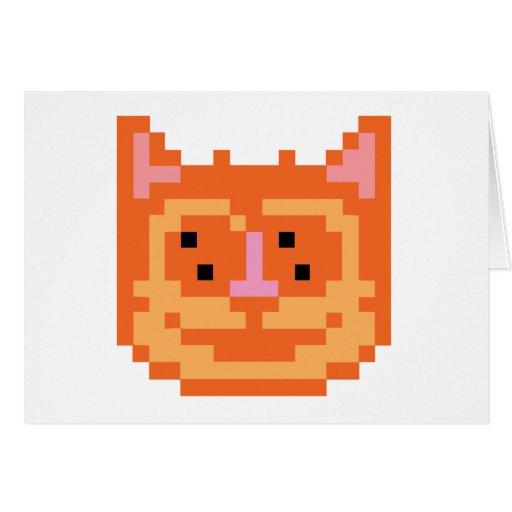 Gato del gatito del pixel tarjeta de felicitación