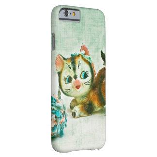 Gato del gatito del vintage funda barely there iPhone 6