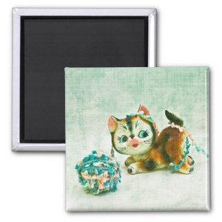 Gato del gatito del vintage imanes de nevera
