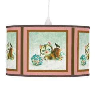 Gato del gatito del vintage lámpara de techo