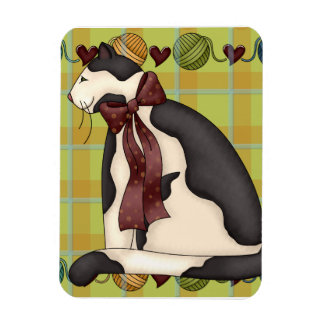 Gato del gatito en la tela escocesa imanes flexibles