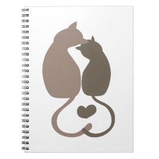 Gato del gatito libro de apuntes con espiral