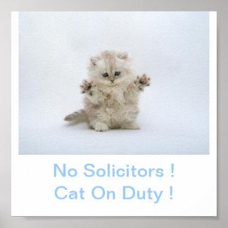 Gato del gatito ninguna muestra de los abogados póster