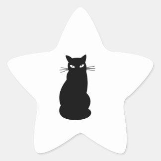 Gato del gatito calcomanías forma de estrellaes personalizadas