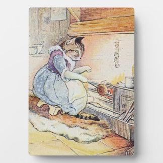 Gato del gatito que cocina la exhibición placas de plastico