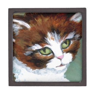 Gato del gatito que presenta los regalos del arte  caja de regalo de calidad