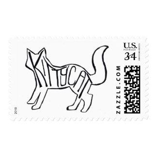 Gato del gatito sello