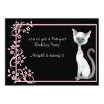 Gato del gatito y chicas del ~ de la invitación
