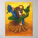 Gato del gitano de la danza del vientre poster