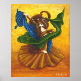 Gato del gitano de la danza del vientre póster