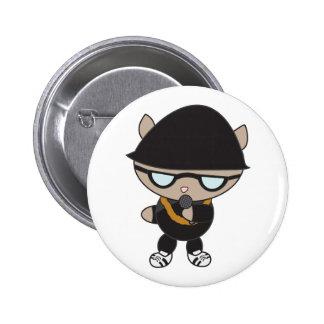 Gato del golpeador en el gorra de Bell Pins