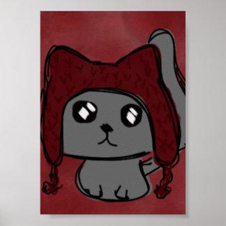 Gato del gorra póster