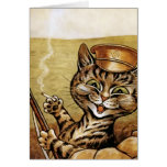 Gato del héroe de la guerra por la tarjeta de Loui