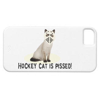 Gato del hockey Pissed iPhone 5 Carcasa