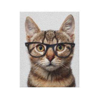 Gato del inconformista lienzo envuelto para galerías