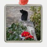 Gato del jardín ornamento de navidad