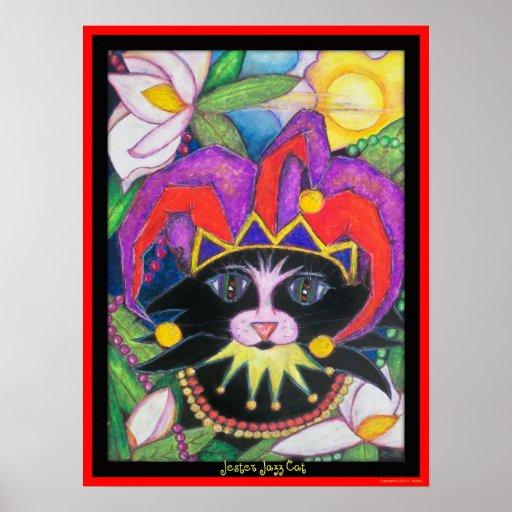 Gato del jazz del bufón impresiones