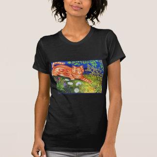 Gato del jengibre camiseta
