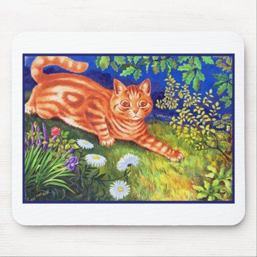 Gato del jengibre tapetes de raton