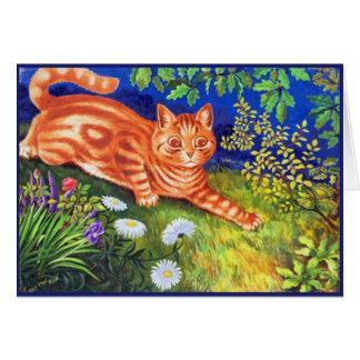 Gato del jengibre tarjeta de felicitación