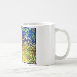 Gato del jengibre taza de café
