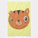 Gato del jengibre toallas