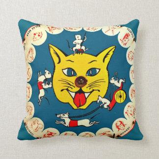 Gato del juego w/big del gatito del juguete del cojín decorativo