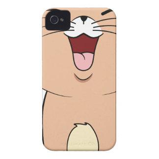 gato del kawaii iPhone 4 carcasa