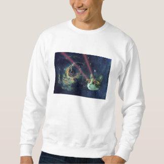Gato del laser con los vidrios en espacio jersey