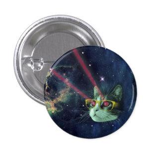 Gato del laser con los vidrios en espacio pin redondo de 1 pulgada