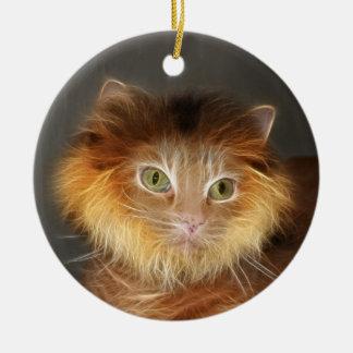 Gato del león ornaments para arbol de navidad