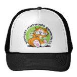 Gato del linfoma gorras de camionero