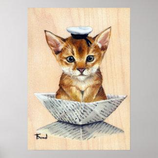 Gato del marinero póster
