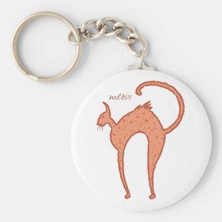 Gato del maullido de Youko Llavero Redondo Tipo Pin