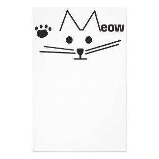 Gato del maullido papeleria de diseño