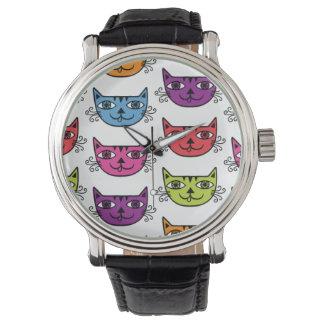 Gato del maullido relojes de pulsera
