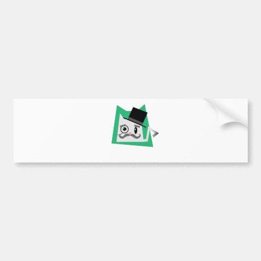 Gato del monóculo etiqueta de parachoque