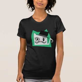 Gato del monóculo camiseta