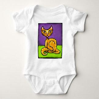 gato del muchacho body para bebé