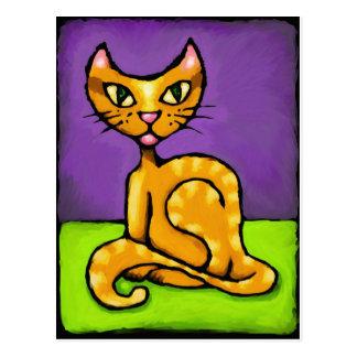 gato del muchacho postal