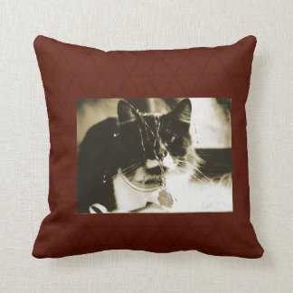 Gato del navidad con malla almohada