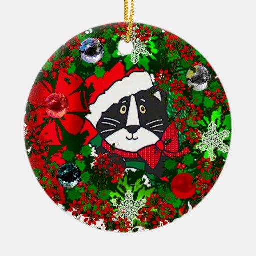 Gato del navidad ornamento para arbol de navidad