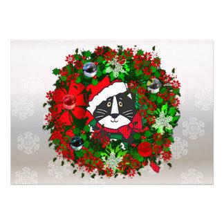 Gato del navidad comunicado personalizado