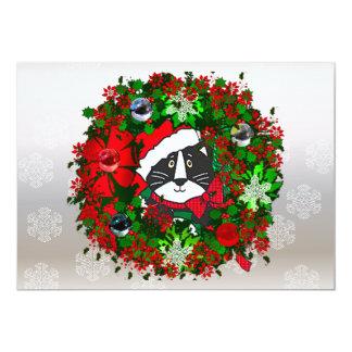 """Gato del navidad invitación 5"""" x 7"""""""