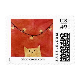 Gato del navidad sello