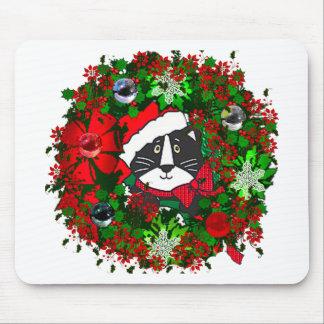 Gato del navidad alfombrillas de ratón
