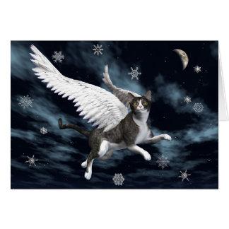 Gato del navidad tarjetas