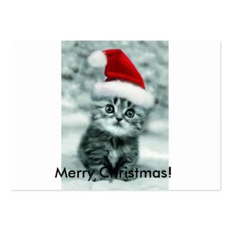 Gato del navidad tarjetas de visita grandes