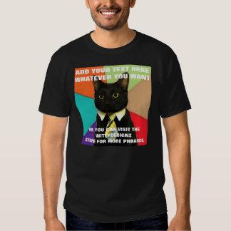 ¡Gato del negocio - PERSONALÍCESE! Camisas