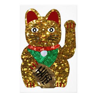 gato del neko del maneki papelería de diseño